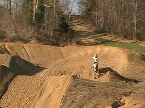 Travis Dunn on yz 450f @ Dunn's Playground 2