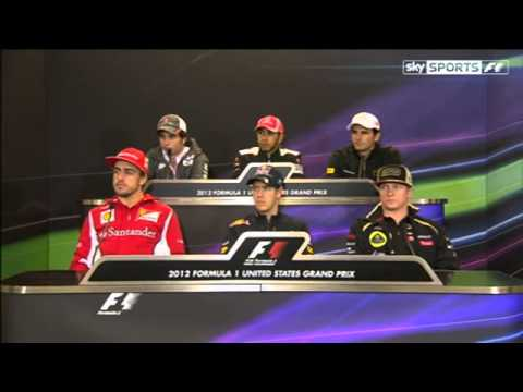 Formula 1 USA Austin GP 2012 - Drivers' Press Conference