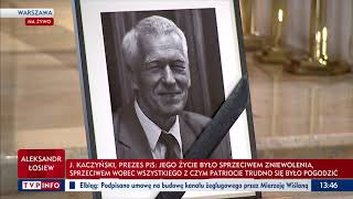 Jarosław Kaczyński żegna Kornela Morawieckiego