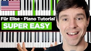 """Download How to play """"FÜR ELISE"""" on Piano Tutorial - very easy - Part 1"""