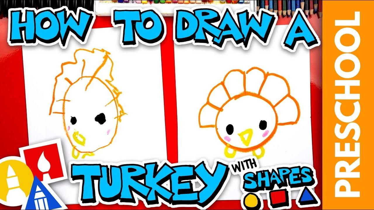 Drawing A Turkey With Shapes - Preschool
