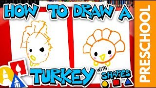 Drawing A Turkey With Shapes - Preschool