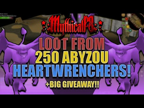 Loot From 250 Abyzou Heartwrenchers!! *WE GOT 3 SUPER RARE DROPS!!* + BIG GIVEAWAY!! [MythicalPS]