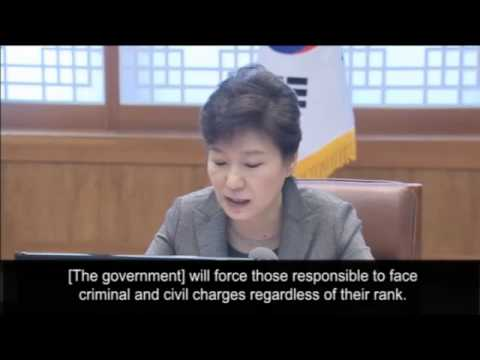 South Korea president says ferry captain's actions were like 'murder'  !