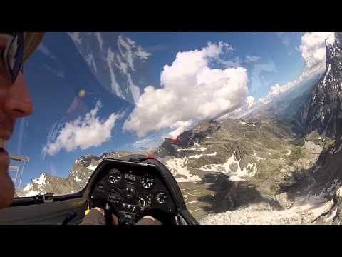 Glacier Gliding in the French Alps