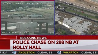 Crazy Police Chase in Houston, TX (March 22, 2018)