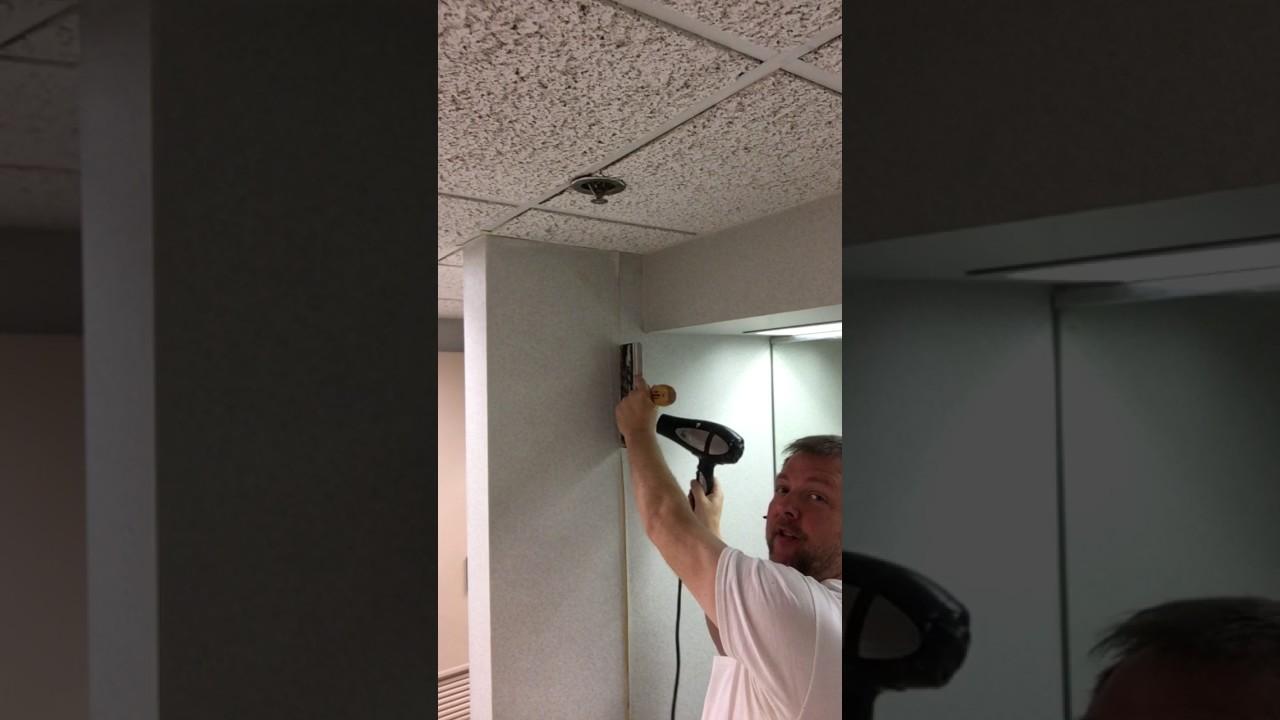 Detailed video on Repairing wallpaper seams.
