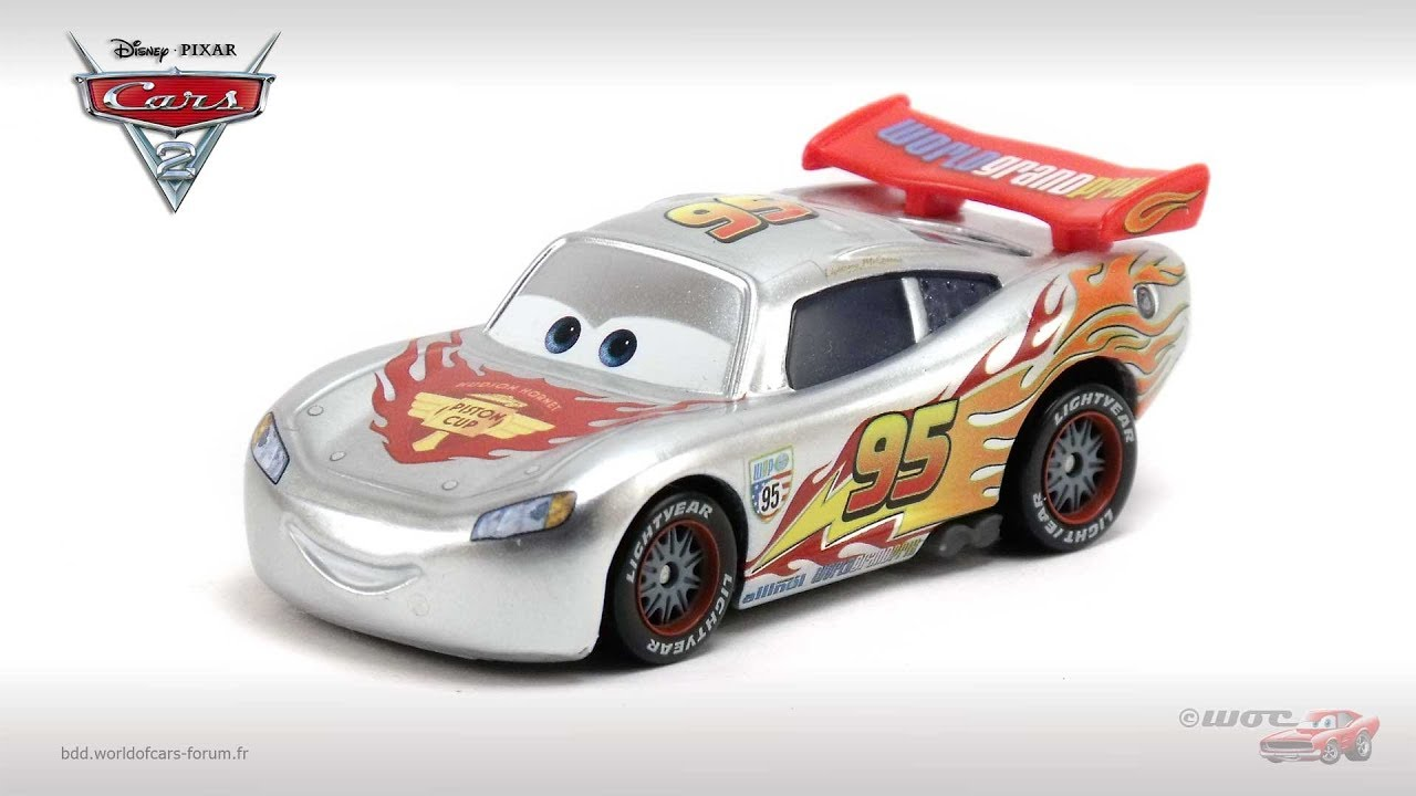 bdd world of cars lightning mcqueen with metallic finish silver