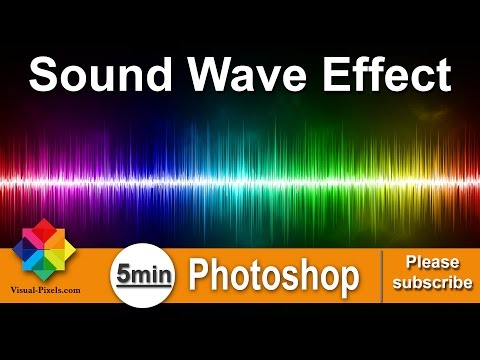 Photoshop Tutorial: How to create a Colorful Sound Wave