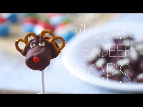 Vegan Holiday Recipe | DIY Reindeer Pops