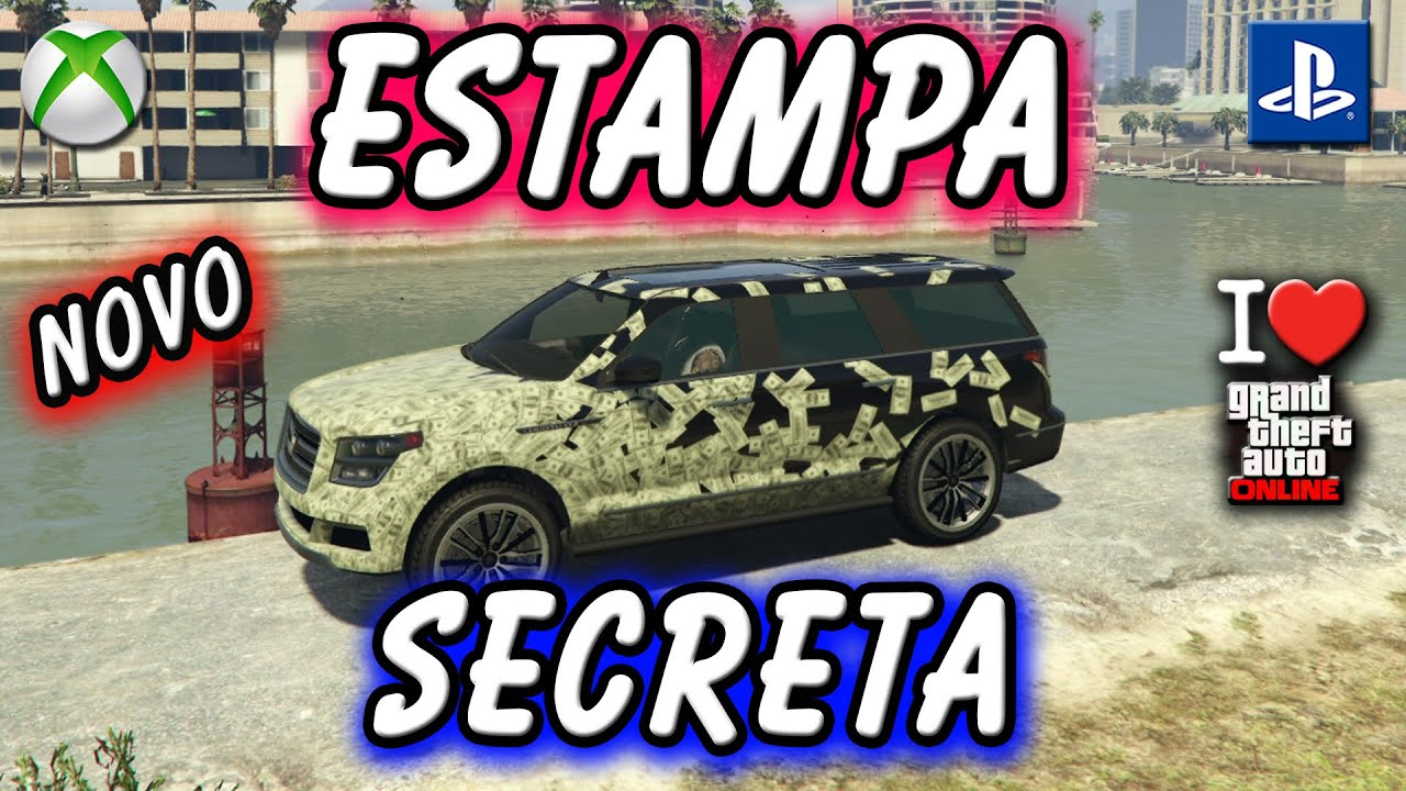 GTA V ONLINE COMO LIBERAR ESTAMPA SECRETA NO LANDSTALKER XL   SECRET LIVERY XBOX PS4