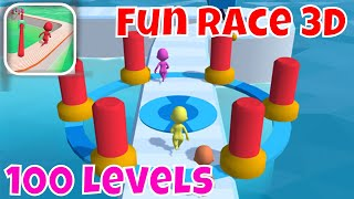 🏃🏼FUN RACE 3D🏁Levels 1-100 Levels🔥Perfect Game Play Walkthrough by GoodJob Games with Synthwave