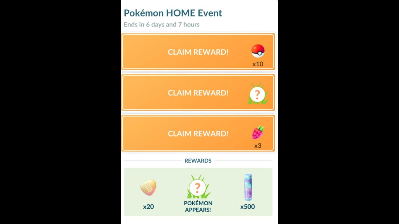 Pokemon Home Event Rewards Pokemon Go Online Mobile Game November 2020 Youtube