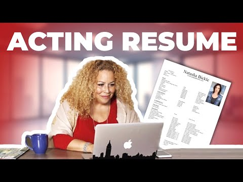 How To Properly Format Your Acting Resume