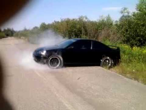 2003 Honda Civic Em2 Burnout Youtube