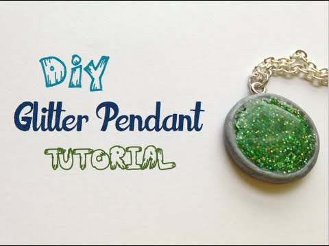 Diy glitter pendant tutorial youtube mozeypictures Choice Image