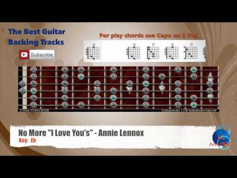 "No More ""I Love You´s"" Annie Lennox - Guitar Backing Track with scale chart"