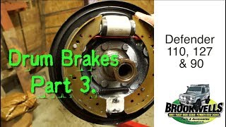 Land Rover Drum Brake Overhaul  Part 3.  Check Drum Ovality and condition, Fitting Shoes