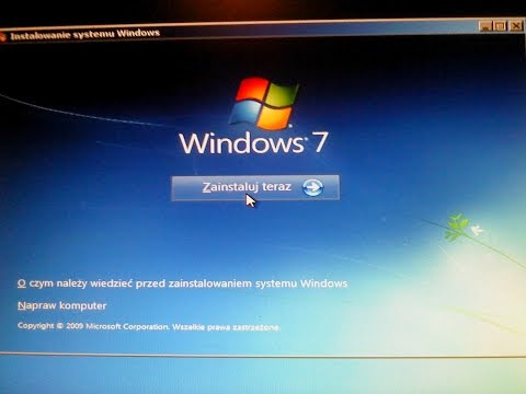 Instalacja Windows'a 7 Home Premium z CD obok 10 i XP