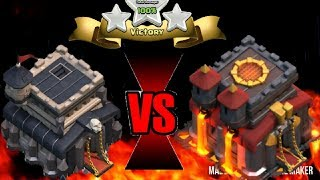TH9 vs TH10 3 star | Clash of Clans