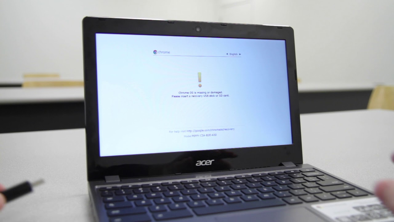 Create a Chromebook recovery drive using a local Chrome OS image
