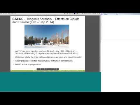 Dept. of Energys Arctic Atmospheric Research Portfolio -- Ashley Williamson, DOE