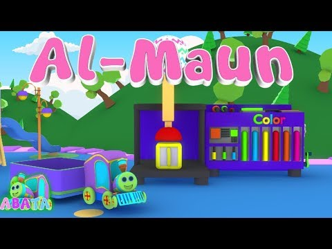 Murottal Juz Amma Al Maun Animation 3D Learning Letters Arabic Alphabet | Abata