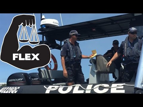 Queensland Police Fine Boat. Water Police pull over. Flex your rights