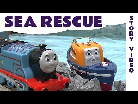 Thomas and Friends Story Episode SEA RESCUE Captain The Lifeboat Thomas Trackmaster Kids Toy Story