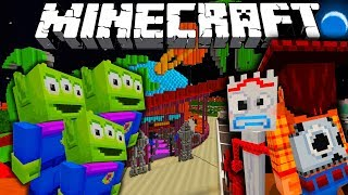 MINECRAFT TOY STORY ADVENTURES | WOODY AND FORKY GO TO PIZZA PLANET | Minecraft Xbox