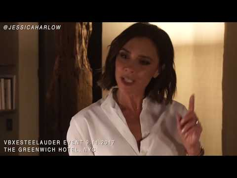 Victoria Beckham Interview: VB x Estee Lauder Makeup Faves, Creative Process, + Q+A | 2017