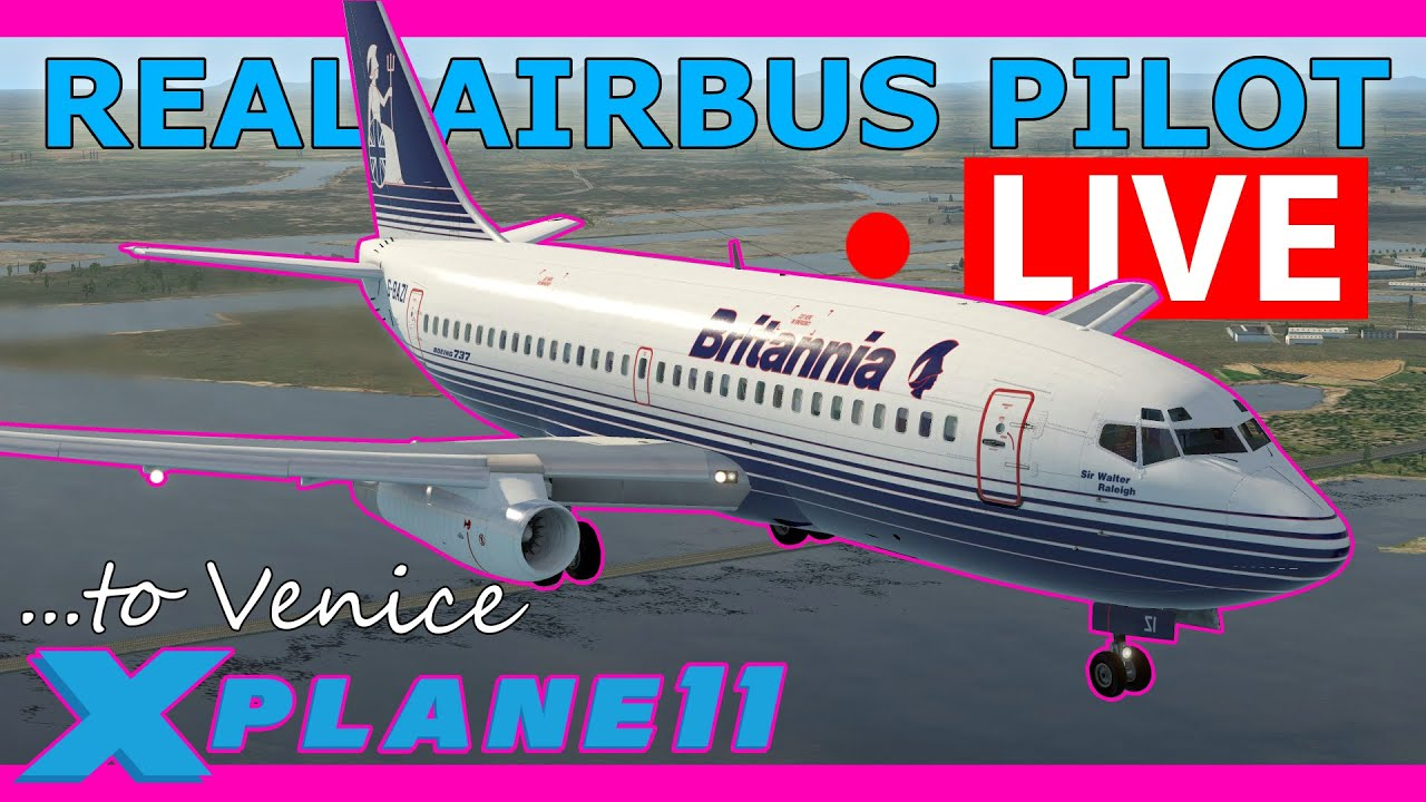 Real Airbus Pilot Flies the Old 737 Live! Gatwick to Venice 737-200
