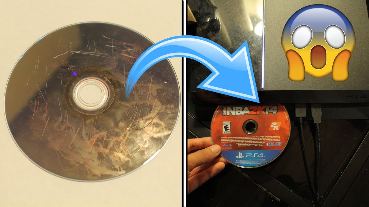 What Happens When You Put A Damaged Ps4 Game Disc In A Ps4 Youtube
