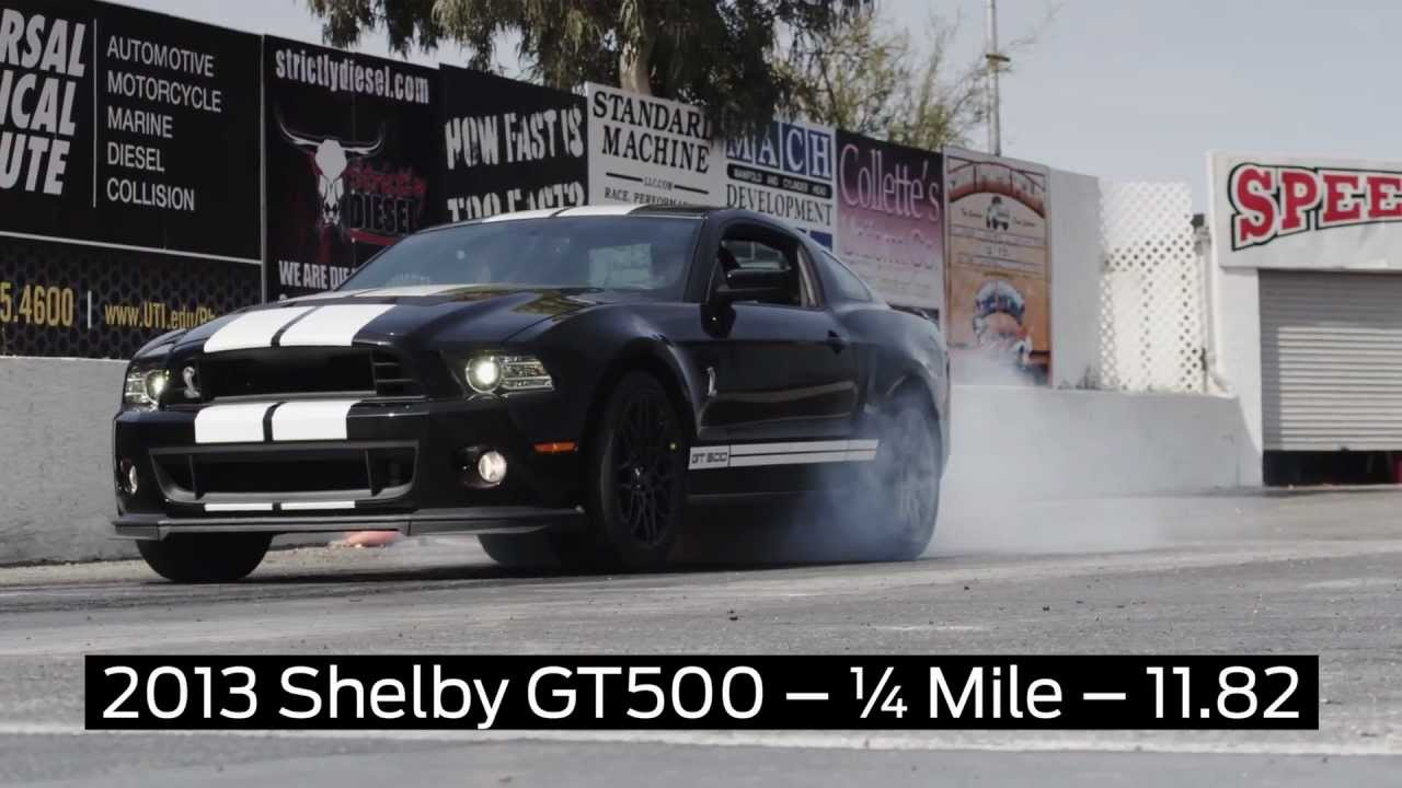 Ford Shelby Gt500 2013 Launch Control Test Drag Strip