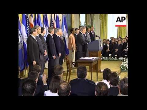 US president signs Central American Free Trade Agreement