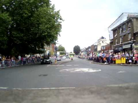 Tour de France 2014 - Epping High St. - Flag Marshal view