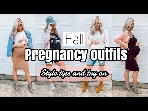 FALL PREGNANCY OUTFITS | PREGNANCY STYLE TIPS AND FALL TRY ON