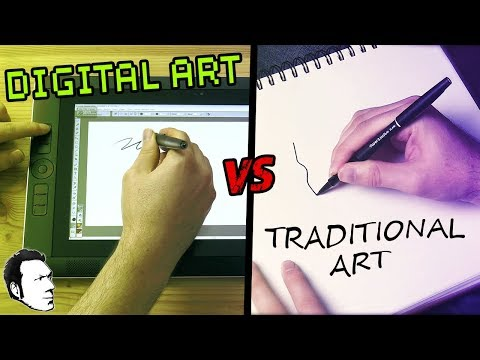 Is It Better to Learn Art Digitally or Traditionally? - Digital Artist Vlog