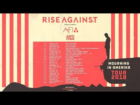 rise against 2018 mourning in amerika tour with afi anti flag