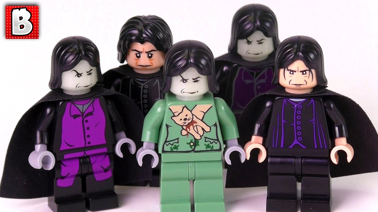 98e15e42f Every LEGO Severus Snape Minifigure Ever Made!!! Harry Potter ...