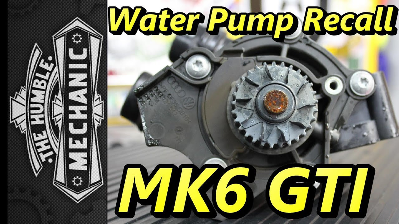 Water Pump Recall Mk6 Gti Podcast Episode 88 Youtube