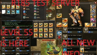 Drakensang online - TEST SERVER R185 - LEVEL 55 EVERYTHING YOU NEED TO KNOW