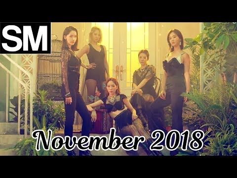 [TOP 100] Most Viewed SM Kpop MVs [November 2018]