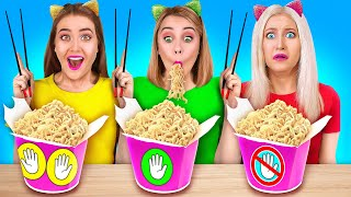 NO HANDS VS ONE HAND VS TWO HANDS Crazy Food Challenges And Funny Situations By 123 GO GEN US