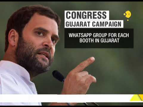 Congress Gujarat campaign: Whatsapp group for each booth in Gujarat