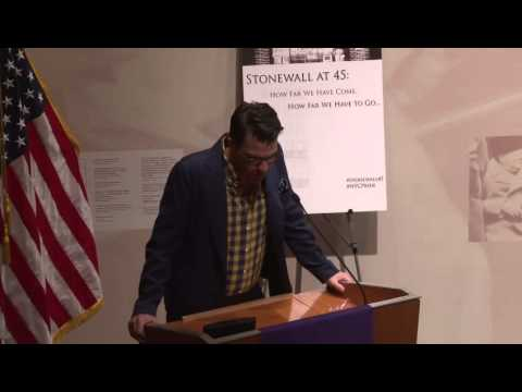 Zachary Quinto 45th anniversary commemoration of the Stonewall Inn riots