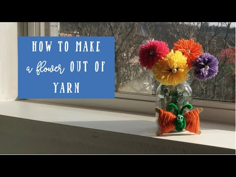 how-to-make-yarn-flowers-with-a-fork---easy-craft-to-do-with-kids
