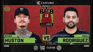 BATB 12: Nyjah Huston Vs. Paul Rodriguez - Round 1
