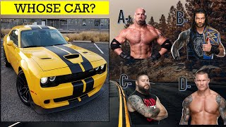 WWE Quiz - Can Guess WWE Superstars By their MOST Favorite CAR in 2020?