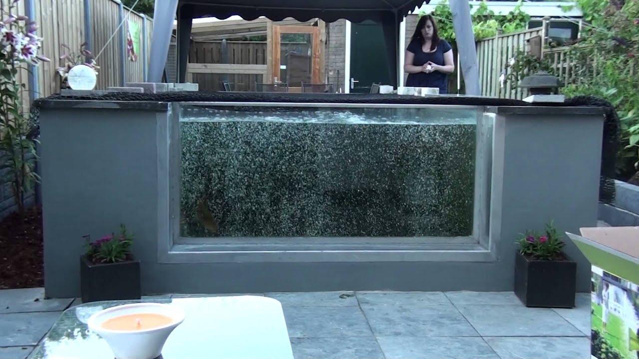 Vijver met raam youtube for Tuinvijvers aanleggen